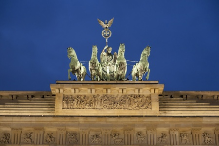Brandenburg Gate at dawn, Berlin, Germany photo