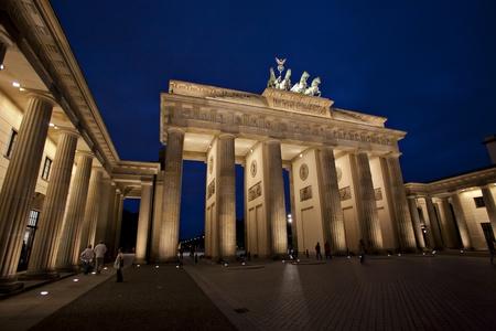 Brandenburg Gate at dawn, Berlin, Germany