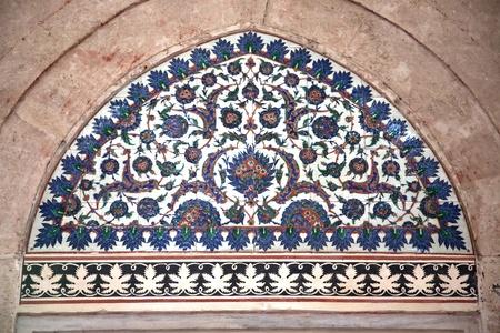 selimiye mosque: Iznik Tile Detail from wall of Selimiye Mosque, Edirne, Turkey