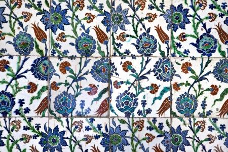 Piastrelle in moschea Sultanahmet, Istanbul, Turchia Archivio Fotografico