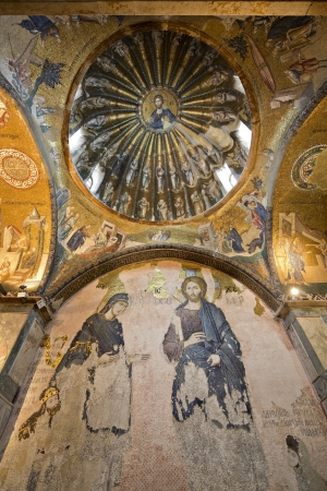 Deesis Mosaic and The Inner Narthex Mosaics in Chora Kariye  Church, Istanbul, Turkey