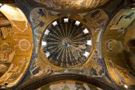 chora: Los interiores Mosaicos P�rtico, en Chora Kariye Iglesia, Estambul, Turqu�a