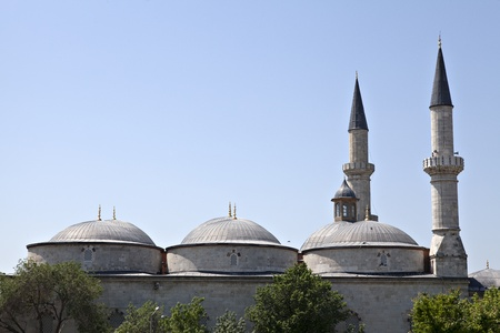 edirne: Old Mosque, Edirne, Turkey Stock Photo