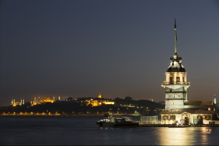Maiden Tower, Istanbul, Turkey Stock Photo