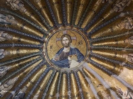 chora: La Iglesia del Divino Salvador en Chora Kariye turco, Kariye Camii, o Kariye Kilisesi, el Museo Chora, la mezquita o la iglesia es considerada como uno de los m�s bellos ejemplos sobrevivientes de una iglesia bizantina Foto de archivo