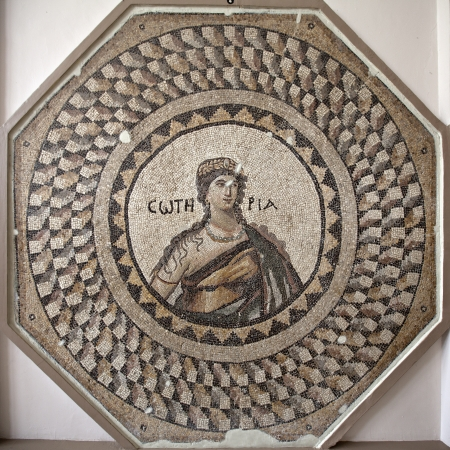 Soteria mosaic, Anakya, Turkey  Personification of Soteria from Narlica-Antakya  5th cent  A D Editöryel