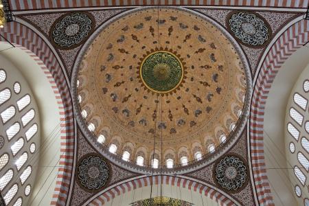 suleymaniye: Dome patterns of Suleymaniye Mosque, Istanbul, Turkey Editorial
