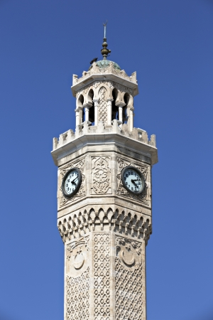 Konak clock tower, Izmir, Turkey Stock Photo