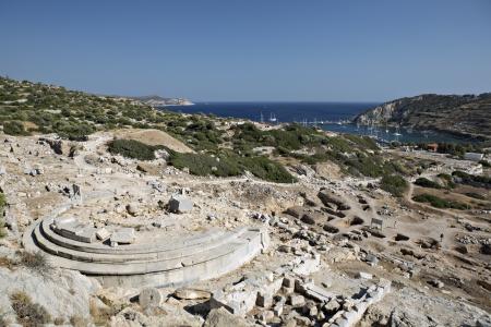 afrodita: Templo de Afrodita, Knidos, Datca, Mugla, Turqu�a Foto de archivo