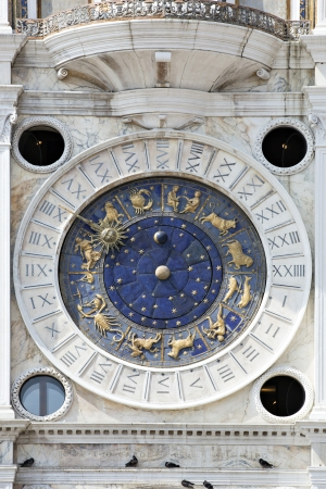 st mark: Astronomical clock in San Marco, Venice Stock Photo