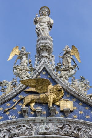 ancient lion: The Patriarchal Cathedral Basilica of Saint Mark