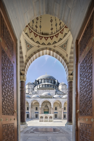 The Suleymaniye Mosque was built on the order of Sultan Suleyman the Magnificent   was fortunate to be able to draw on the talents of the architectural genius of Sinan Pasha   481 Traditions and Encounters  Brief Global History   The construction work beg