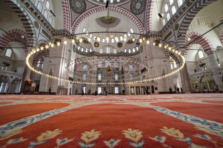 encounters: The Suleymaniye Mosque was built on the order of Sultan Süleyman  Süleyman the Magnificent   was fortunate to be able to draw on the talents of the architectural genius of Sinan Pasha   481 Traditions and Encounters  Brief Global History   The construct