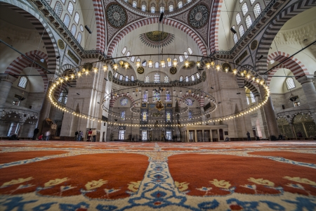The Suleymaniye Mosque was built on the order of Sultan Süleyman  Süleyman the Magnificent   was fortunate to be able to draw on the talents of the architectural genius of Sinan Pasha   481 Traditions and Encounters  Brief Global History   The construct Editorial