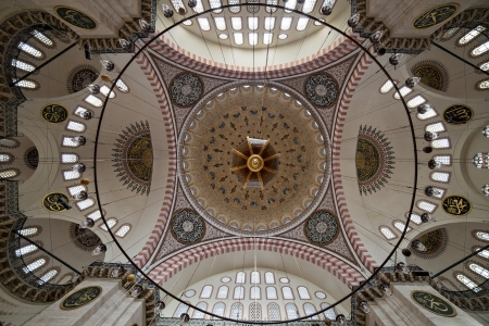encounters: The Suleymaniye Mosque was built on the order of Sultan Süleyman  Süleyman the Magnificent   was fortunate to be able to draw on the talents of the architectural genius of Sinan Pasha   481 Traditions and Encounters  Brief Global History   The construct Editorial