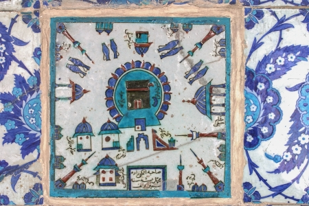Kaaba tile in Rustem Pasha Mosque, Istanbul, Turkey