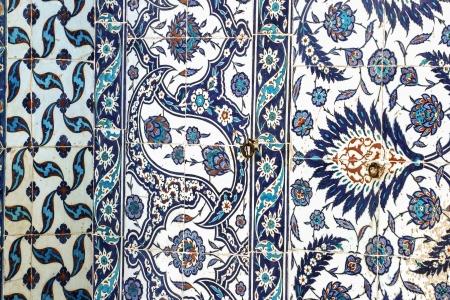 Carrelage décoration murale de Rustem Pasha Mosque, Istanbul, Turquie Banque d'images