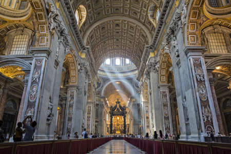 Interior of St  Peter s Cathedral, Vatican City  Italy Editorial