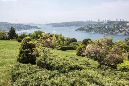 hisari: Bosphorus view from Otagtepe in Istanbul, Turkey
