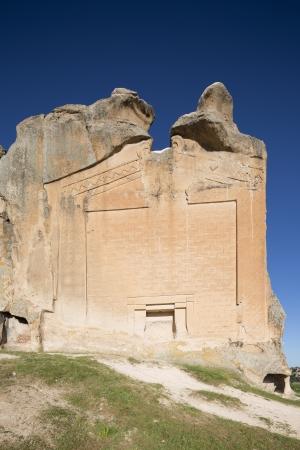 phrygian: Midas Monument of Ancient Midas City in Yazilikaya, Eskisehir, Turkey