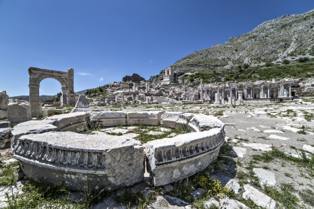 Sagalassos is an archaeological site in southwestern Turkey. Stock Photo