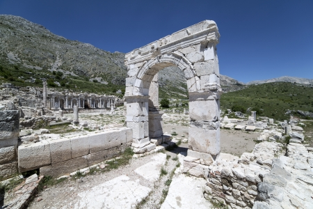 archaeological site: Sagalassos is an archaeological site in southwestern Turkey. Stock Photo