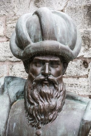 Bust of Mimar Sinan. He was the chief Ottoman architect. He was responsible for the construction of more than three hundred major structures and other more modest projects.