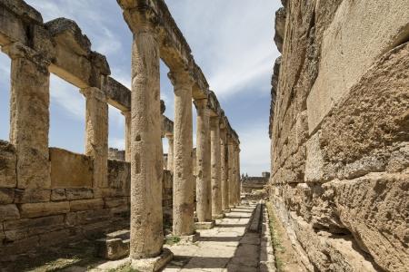 latrine: The Latrine in Hierapolis, Denizli, Turkey. Hierapolis was an ancient Greco-Roman city in Phrygia.