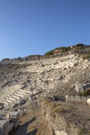 mugla: Amphitheatre in Knidos, Mugla, Turkey