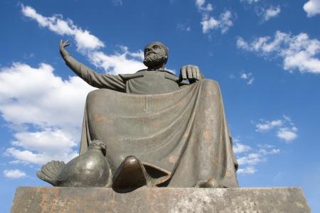 Statue of Haci Bektas Veli, Nevsehir, Turkey