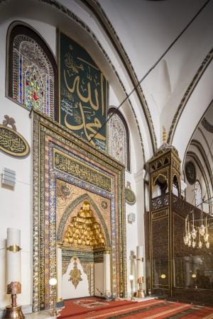 Mihrab � di nicchia di una moschea che indica la direzione della Mecca grande moschea o in turco Ulu Cami � uno dei pi� importanti moschea di Bursa, in Turchia