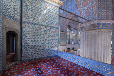 Internal view of Blue Mosque, Istanbul, Turkey