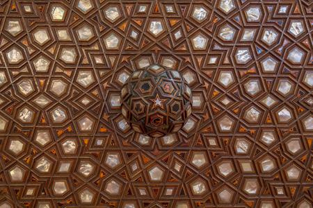 marquetry: Decoraci�n de la perla en la Mezquita Azul, Estambul, Turqu�a.