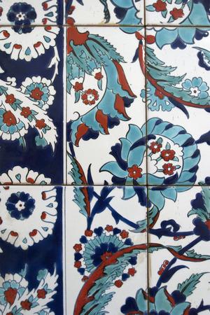 iznik: Detail view of Iznik tiles, Istanbul, Turkey