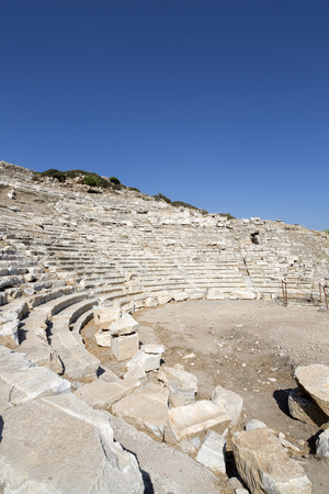 mugla: Amphitheate of Knidos; Datca, Mugla, Turkey. Stock Photo