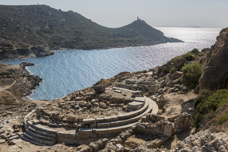 mugla: Temple of Aphrodite in Knidos, Datca, Mugla, Turkey.