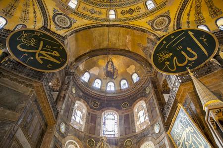 Istanbul, Turkey - June 18, 2011. Virgin Mary and Child Christ, The Apse Mosaic, Hagia Sophia, Istanbul, Turkey on June 18, 2011.
