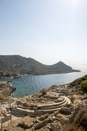 Temple of Aphrodite in Knidos, Datca, Mugla, Turkey.