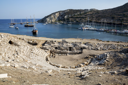 Boats in  Knidos, Mugla, Turkey.