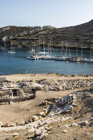 mugla: Boats in  Knidos, Mugla, Turkey.