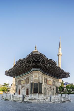 iii: III. Ahmet Fountain in Fatih district of Istanbul, Turkey. Stock Photo