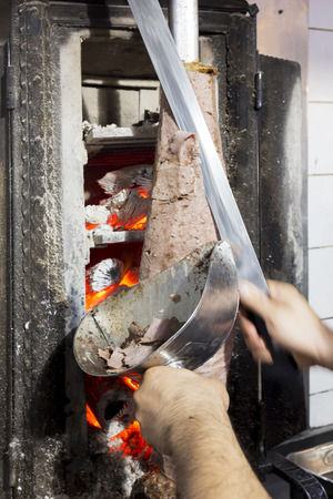 Doner kebab from Turkish cuisine in Istanbul, Turkey.