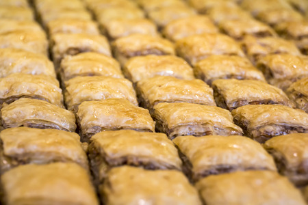 turkish dessert: Turkish Dessert Baklava from Turkish cuisine Stock Photo