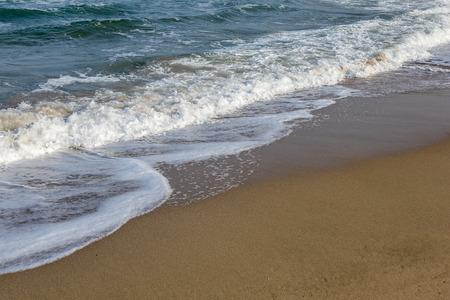 Sands and waves at black sea cost of Sile in Istanbul, Turkey