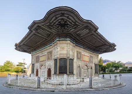 fatih: III. Ahmet Fountain in Fatih district of Istanbul, Turkey. Stock Photo
