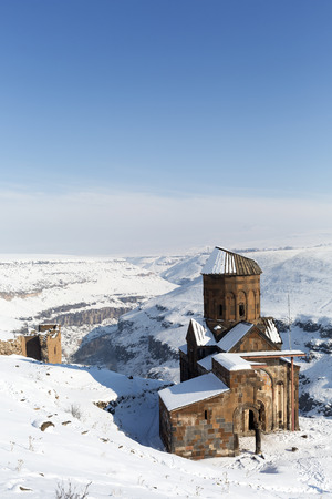 Tigran Honents church in Ani is a ruined medieval Armenian city now situated in the Turkeys province of Kars and next to the closed border with Armenia. Ani is a  UNESCO World Heritage Site.