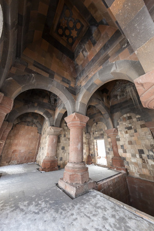 The Mosque Ef Ebul Manucehr and the tomb the mosque Manucehr, Ani Ulu Mosque in Ani ancient city, Kars, Turkey. Ani is a ruined medieval Armenian city now situated in the Turkeys province of Kars and next to the closed border with Armenia. Ani is a  UNE Editorial