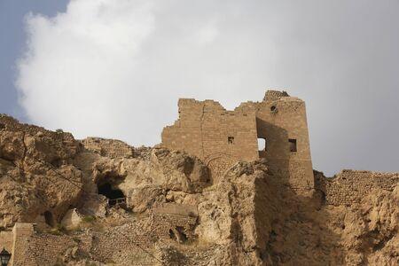 Walls of Castel in Mardin, Turkey.