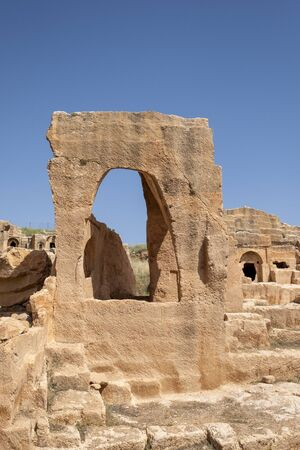 Graveyard of Dara Ancient city in Mardin, Turkey.