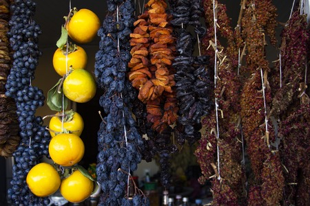 Georgian traditional dried fruits food Assortment Standard-Bild - 121337366